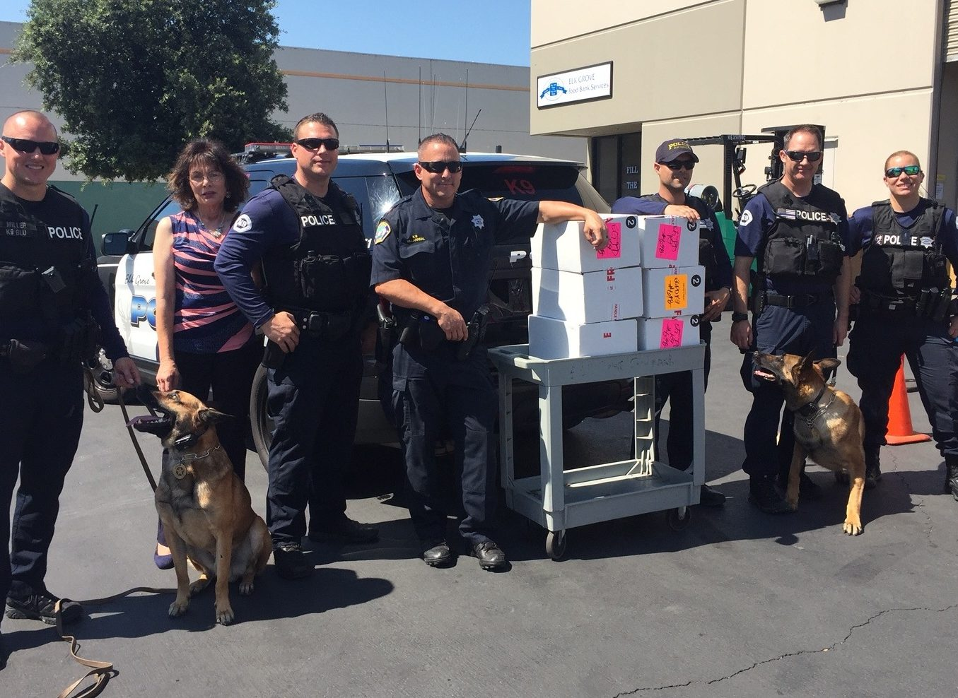EG Police K-9 Association delivers donation to the EGFBS