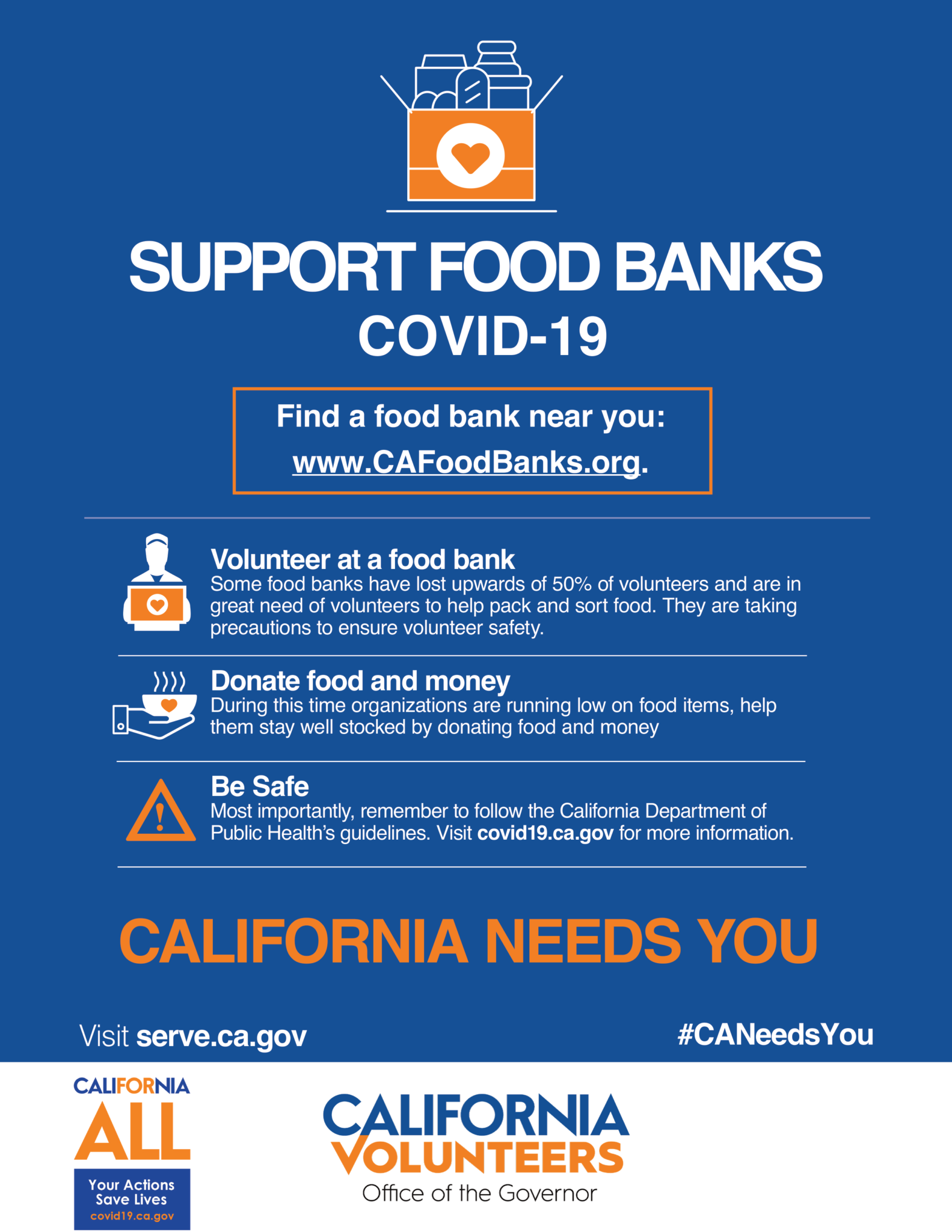 From Ca Volunteers Office Of The Governor Support Food Banks